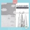 Jollein - Multi cloth Cloud grey ผ้าห่อตัวลายก้อนเมฆเทา เซต 3 ผืน size 115x115 cm.