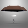 Ultra Size Black UV Coating Auto Umbrella ร่มออโต้เคลือบยูวีสีดำ กันแดด กันยูวี 100% ขนาดใหญ่ - น้ำตาล