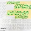 สติ๊กเกอร์ขอบล้อใน สีเขียว ขาว FOR YAMAHA M-SLAZ