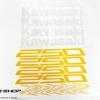 สติ๊กเกอร์ขอบล้อใน สีเหลือง ขาว FOR KAWASAKI Z250