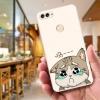 เคส huawei y9 2018 แมวหน้าเศร้า วัสดุtpuนิ่ม