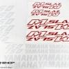 สติ๊กเกอร์ขอบล้อใน สีแดง ขาว FOR YAMAHA M-SLAZ