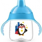 Philips Avent My Penguin Sippy Cup 9oz, Stage 2 Blue (6 months+)