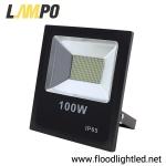 สปอร์ตไลท์ LED 100w รุ่นFIT ยี่ห้อLAMPO (แสงส้ม)
