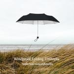 Windproof UV Folding Umbrella ร่มพับ ต้านลม 3ตอน เคลือบเงิน กันแดด กันยูวี กันฝน-ดำ