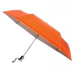 Silver UV Coationg Orange Spot Auto ร่มพับ3ตอนเคลือบเงินกันยูวีจุดๆ-ส้ม