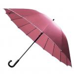 30'' 16 Ribs Big Size Walking Umbrella ร่มยาวขนาดใหญ่ต้านลมแรง16ก้าน30นิ้ว - ชมพู
