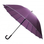 30'' 16 Ribs Big Size Walking Umbrella ร่มยาวขนาดใหญ่ต้านลมแรง16ก้าน30นิ้ว - ม่วง