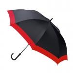 Waterfront Windproof Jumping Walking Umbrella ร่มยาวระบบออโต้เปิด กันยูวี ต้านลมแรง กระโดดข้าม - แดง