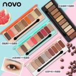 Hot สุดๆ( แบบใหม่/ของแท้) โนโว novo play color eyes eyeShadow พาเลทอายแชโดว์โทนสีหวานๆ สไตล์ดอกซากุระ house อายแชโดว์