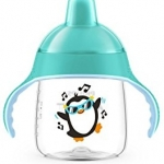 Philips Avent My Penguin Sippy Cup 9oz, Stage 2 Green (6 months+)