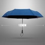 Ultra Size Black UV Coating Auto Umbrella ร่มออโต้เคลือบยูวีสีดำ กันแดด กันยูวี 100% ขนาดใหญ่ - น้ำเงิน