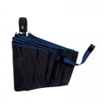 Black UV Coating Auto ร่มออโต้ 3ตอน เคลือบยูวีสีดำ กันแดด กันยูวี 100% กันฝน เส้นโค้ง - ดำ