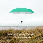 Windproof UV Folding Umbrella ร่มพับ ต้านลม 3ตอน เคลือบเงิน กันแดด กันยูวี กันฝน-เขียว