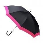Waterfront Windproof Jumping Walking Umbrella ร่มยาวระบบออโต้เปิด กันยูวี ต้านลมแรง กระโดดข้าม - ชมพู