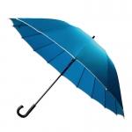 30'' 16 Ribs Big Size Walking Umbrella ร่มยาวขนาดใหญ่ต้านลมแรง16ก้าน30นิ้ว - ฟ้า