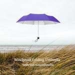 Windproof UV Folding Umbrella ร่มพับ ต้านลม 3ตอน เคลือบเงิน กันแดด กันยูวี กันฝน-ม่วง