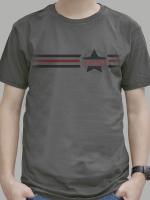 เสื้อยืด : Wanted 3 stripe สีเทาดำ