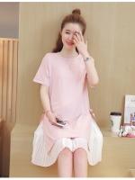 ชุดคลุมท้อง+เสื้อคลุมสีชมพู