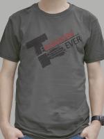 เสื้อยืด : Team Work สีเทาดำ