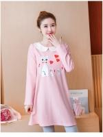 เสื้อคลุมท้อง สีชมพู