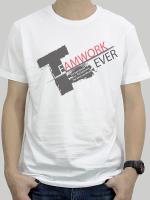 เสื้อยืด : Team Work สีขาว