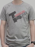 เสื้อยืด : Team Work สีเทา
