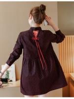 เสื้อคลุมท้องแฟชั่น สีดำแดง