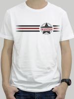 เสื้อยืด : Wanted 3 stripe สีขาว