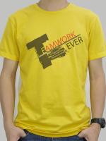 เสื้อยืด : Team Work สีเหลือง