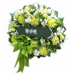 wreath หรีดดอกไม้สด