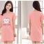 เสื้อคลุมท้อง สีชมพู ผ้า cotton thumbnail 2