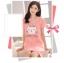 เสื้อคลุมท้อง สีชมพู ผ้า cotton thumbnail 3
