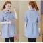 เสื้อคลุมท้องแฟชั่น สีฟ้า ลายปัก thumbnail 2