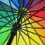 Rainbow UV Cut Walking Umbrella ร่มยาว กันแดด กันยูวี กันฝน 16 ก้าน สายรุ้ง16สี thumbnail 4