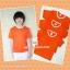 ขายส่ง ไซส์ M เสื้อกีฬาสีเด็ก เสื้อกีฬาเปล่าเด็ก เสื้อกีฬาสีอนุบาล สีส้ม thumbnail 2