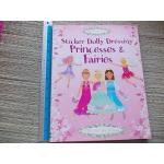 Sticker Dolly Dressing Princesses & Fairies (Usborne Activities) Paperback 48 Pages Like New ราคา 150