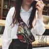 กระเป๋าสะพาย กระเป๋าคาดเอวกระเป๋าคาดอก แฟชั่นงานนำเข้าแบบคาดปักเลื่อม MB18-01206-PNK [สีชมพู]