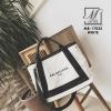 กระเป๋าผ้าแคนวาสนำเข้าดีไซน์สวยสไตล์แบรนด์ดัง MB-17035-WHT (สีขาว)