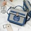 กระเป๋าสะพายกระเป๋าถือ แฟชั่นนำเข้างานสุด cute แบรนด์ axixi AXI-A12402-BLU (สีน้ำเงิน)