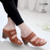 รองเท้าสุขภาพสีแทน พื้นนุ่ม LB-10183-แทน