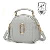 กระเป๋าสะพายกระเป๋าถือ แฟชั่นนำเข้าดีไซน์หรู B06246-GRY (สีเทา)