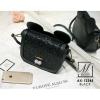 กระเป๋าสะพายกระเป๋าถือ แฟชั่นนำเข้าใบเล็กดีไซน์สุดชิค AX-12345-BLK (สีดำ)