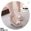 รองเท้ารัดข้อเปิดท้ายส้นเตารีดสีทอง LB-ST011-GLD