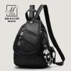 กระเป๋าแฟชั่นนำเข้าสไตล์เกาหลีทรงสุดเก๋ส์ MB18-01709-BLK (สีดำ)