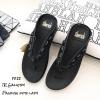 รองเท้าแตะเพื่อสุขภาพสีดำ คีบ YT122-ดำ