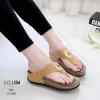 รองเท้าสุขภาพสีแทน พื้นนุ่ม LB-10182-แทน