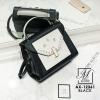 กระเป๋าสะพายกระเป๋าถือ แฟชั่นนำเข้างานเรียบหรูมากก... AX-12361-BLK (สีดำ)