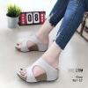 รองเท้าส้นเตารีดสีเทา หนัง pu LB-961-57-เทา