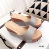 รองเท้าแตะเสริมส้นแบบสวม 981-82-เทา (สีเทา)
